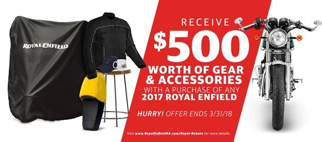 Royal Enfield Gear and Accessories Rebate